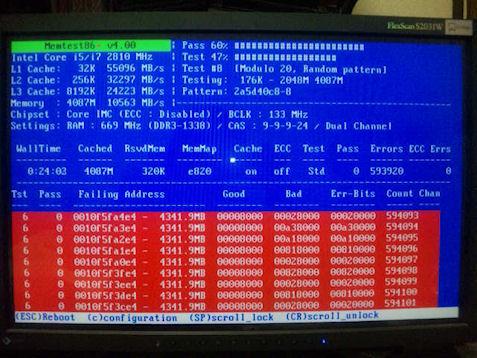 ブルースクリーンが多発していたのでメモリを交換した結果!