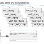 アセット作者向けにテクスチャが同じで複数のファイル名にコピーするスクリプトを作りました